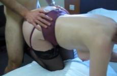 Vidéo de ma femme remplie par plusieurs amants - Cuckold creampie